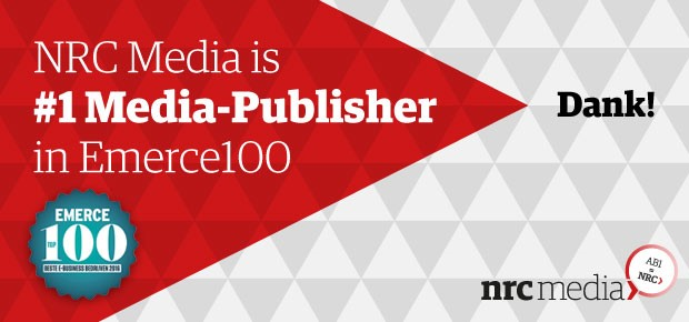 NRC Media #1 Media publisher in Emerce 100
